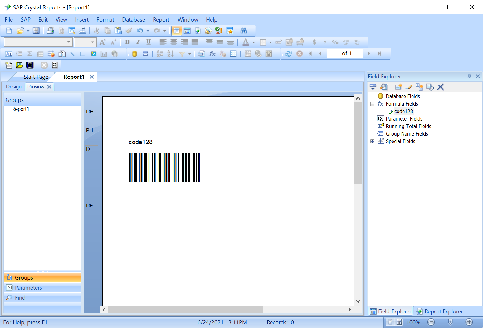 Crystal Report Barcodes and Barcode Fonts