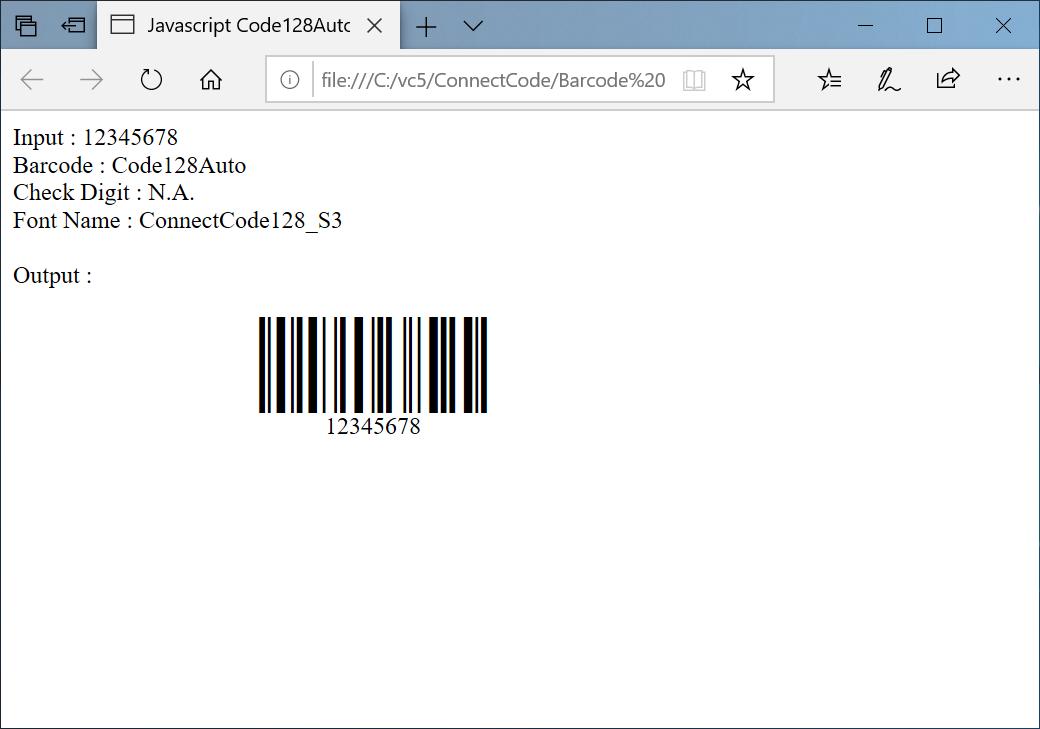Javascript Barcode