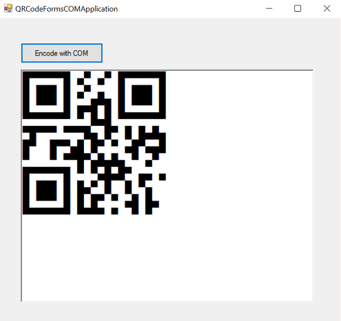 QR Code COM (Component Object Model) Library and Fonts