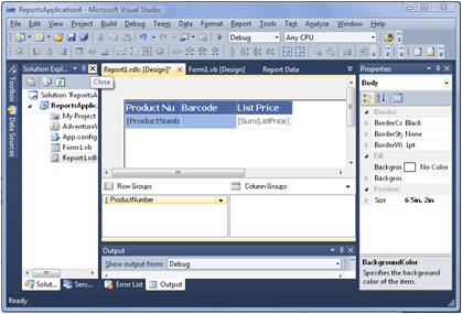 RDLC Report Barcode - Reporting Definition Language Client-Side