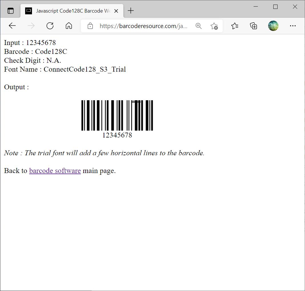 Barcode Web Fonts