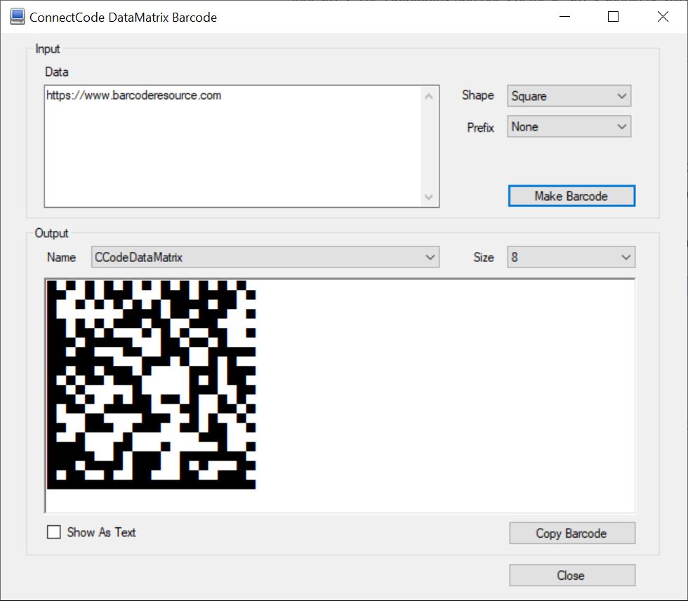 DataMatrix Barcode Fonts