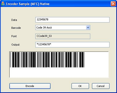Barcode Fonts DLL Integration with VC++