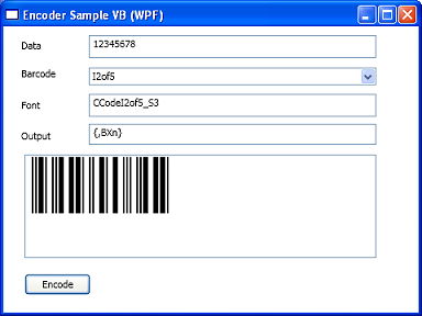 Barcode Fonts DLL Integration with WPF (Visual Basic)