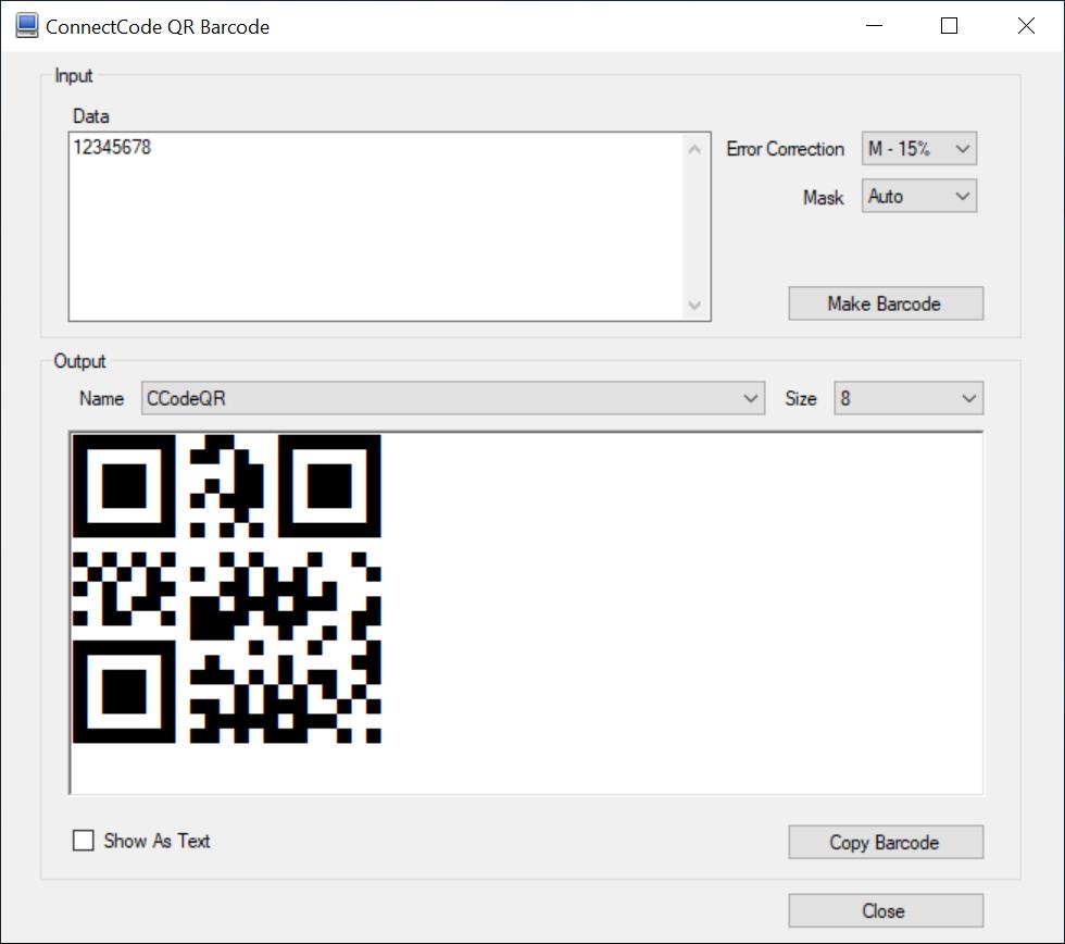 QR Code Barcode Fonts