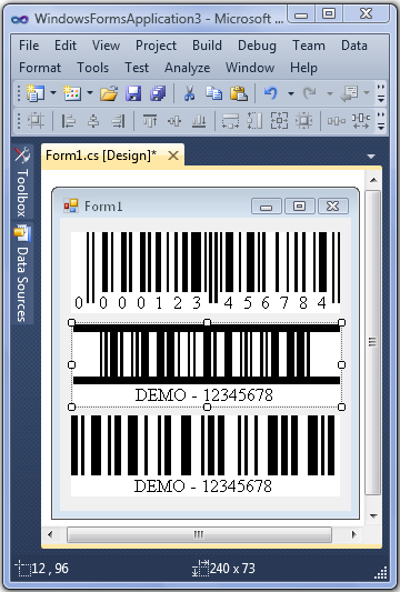 Click to view ConnectCode .Net Barcode SDK screenshots